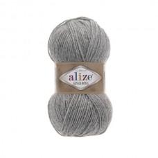 21 Пряжа Alize Alpaca Royal светло-серый меланж