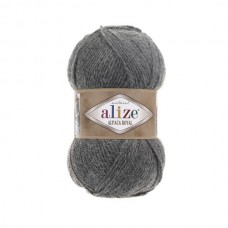 196 Пряжа Alize Alpaca Royal серый меланж
