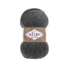 182 Пряжа Alize Alpaca Royal темно-серый меланж