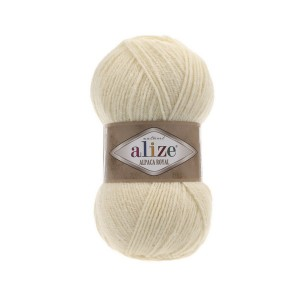 1 Пряжа Alize Alpaca Royal кремовый