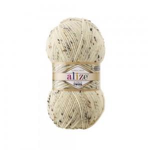 1 Пряжа Alize Alpaca Tweed кремовый