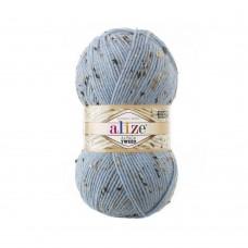 356 Пряжа Alize Alpaca Tweed голубой