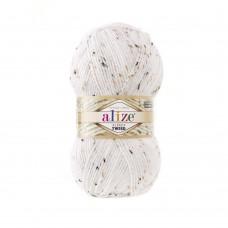55 Пряжа Alize Alpaca Tweed белый