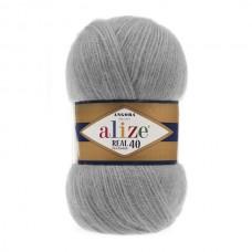 21 Пряжа Alize Angora Real 40 серый