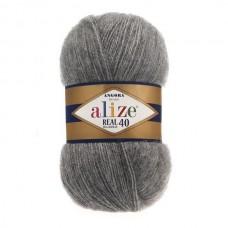 182 Пряжа Alize Angora Real 40 средне-серый меланж