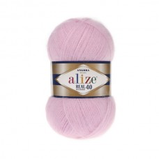 185 Пряжа Alize Angora Real 40 розовый