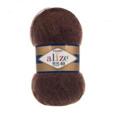 201 Пряжа Alize Angora Real 40 коричневый