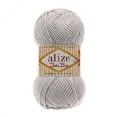 224 Пряжа Alize Baby Best светло-серый