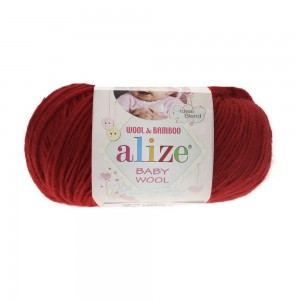 106 Пряжа Alize Baby Wool темно-красный
