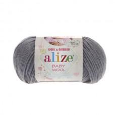 119 Пряжа Alize Baby Wool серое небо