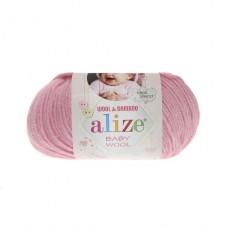 194 Пряжа Alize Baby Wool розовый