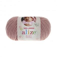 161 Пряжа Alize Baby Wool пудра