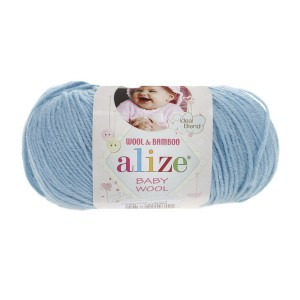 128 Пряжа Alize Baby Wool морская вода