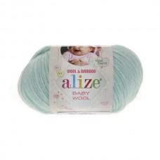 19 Пряжа Alize Baby Wool водяная зелень
