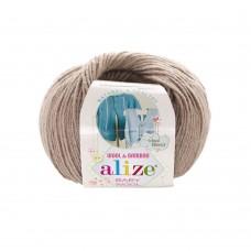 167 Пряжа Alize Baby Wool беж