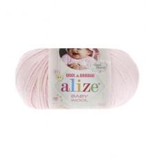 184 Пряжа Alize Baby Wool пудра
