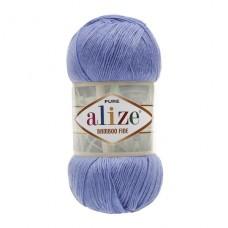 303 Пряжа Alize Bamboo Fine ярко-синий