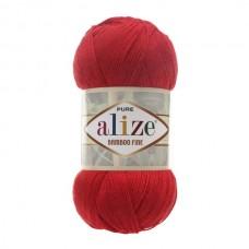 56 Пряжа Alize Bamboo Fine красный
