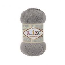 52 Пряжа Alize Bamboo Fine светло-серый