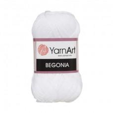 1000 Пряжа YarnArt Begonia ультра белый