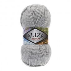 21 Пряжа Alize Burcum Klasik серый меланж