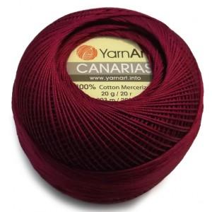 0112 Пряжа YarnArt Canarias бордовый