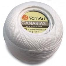 1000 Пряжа YarnArt Canarias белый