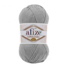 200 Пряжа Alize Cotton Baby Soft светло-серый
