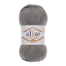 197 Пряжа Alize Cotton Baby Soft темно-серый меланж