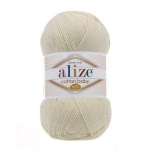 1 Пряжа Alize Cotton Baby Soft кремовый