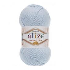 183 Пряжа Alize Cotton Baby Soft светло-голубой