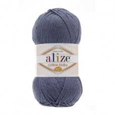 203 Пряжа Alize Cotton Baby Soft джинс меланж