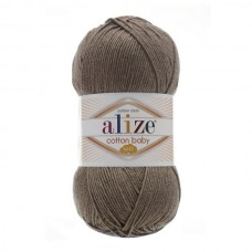 240 Пряжа Alize Cotton Baby Soft светло-коричневый
