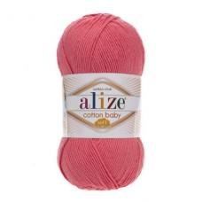 33 Пряжа Alize Cotton Baby Soft темно-розовый