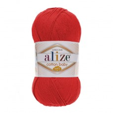 259 Пряжа Alize Cotton Baby Soft гранат
