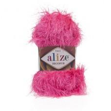 157 Пряжа Alize Decofur розовый неон