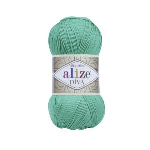 123 Пряжа Alize Diva изумруд
