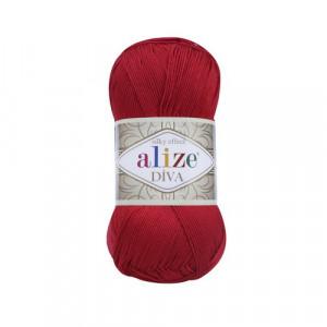 106 Пряжа Alize Diva красный