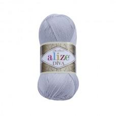 168 Пряжа Alize Diva морская ракушка