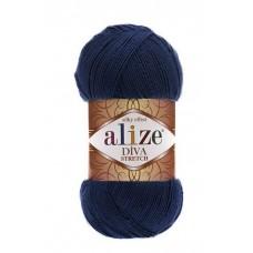 361 Пряжа Alize Diva Stretch темно-синий