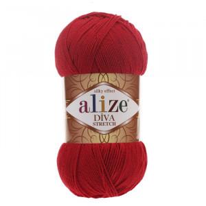106 Пряжа Alize Diva Stretch красный