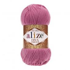 178 Пряжа Alize Diva Stretch темно-розовый