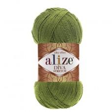 210 Пряжа Alize Diva Stretch зеленый
