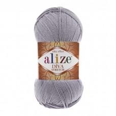 253 Пряжа Alize Diva Stretch серебро