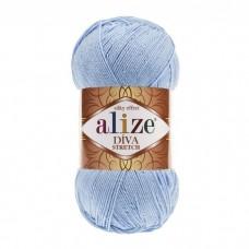 350 Пряжа Alize Diva Stretch светло-голубой