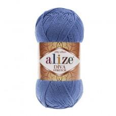 353 Пряжа Alize Diva Stretch ярко-синий