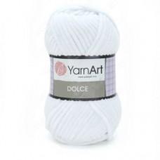741 Пряжа YarnArt Dolce белый