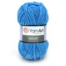 758 Пряжа YarnArt Dolce ярко-голубой
