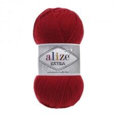 106 Пряжа Alize Extra темно-красный