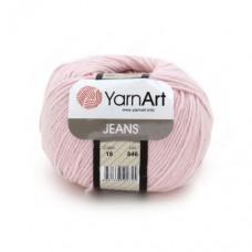 18 Пряжа YarnArt Jeans светло-розовый